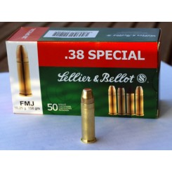Sellier & Bellot .38 Speciel FMJ 158 grains ammunition