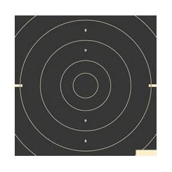 Pistolskiver 25/50 mtr. Duelcentrumstykke ISSF - 3325