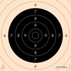 Pistolskive 25/50 mtr. International Præcision Centrumstykke 3030
