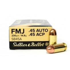 Sellier & Bellot .45 ACP FMJ ammunition