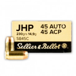 Sellier & Bellot .45 ACP JHP ammunition
