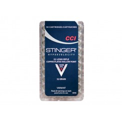 CCI Stinger .22 LR Copperplated Hollow Point ammunition