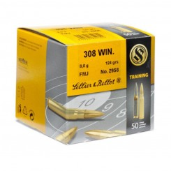 Sellier & Bellot .308 Win  8,0 gr.124 grs. FMJ ammunition