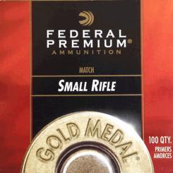 Federal gold Medal Small Rifle fænghætter