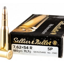 Sellier & Bellot 7,62 x 54R FMJ 180 grains 11,7 gr. ammunition